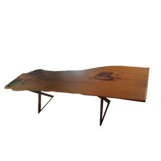 "116"" Oak Live Edge Dining/Conference Epoxy Table"