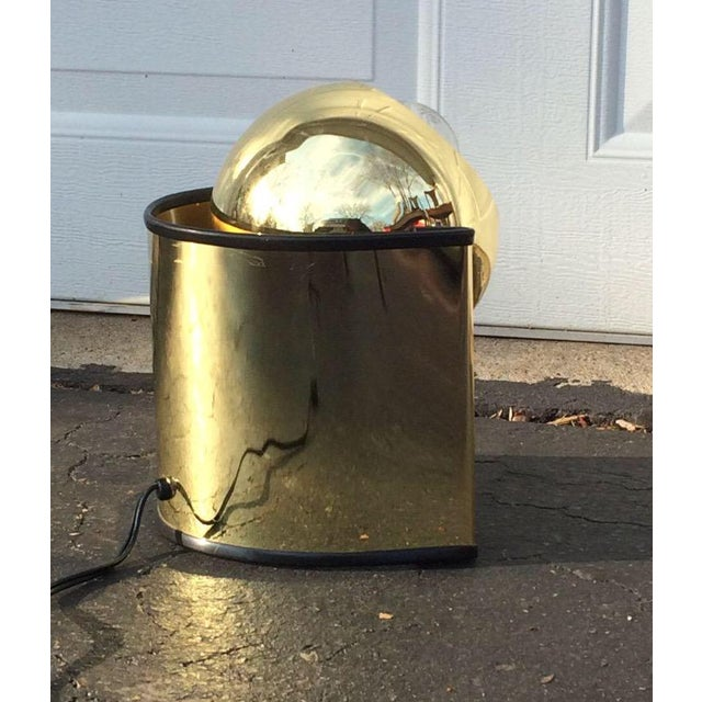 "Mid-Century Brass ""Eyeball"" Spotlight Lamp - Image 2 of 7"