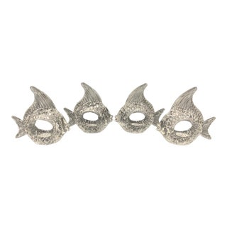 Acrylic Fish Napkin Rings - Set of 4 For Sale