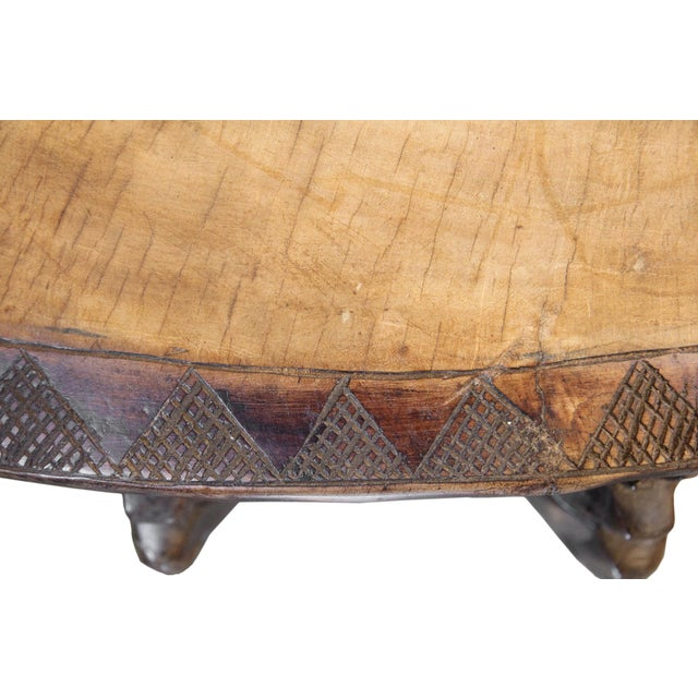 Brown Antique Large Baga Chief Stool For Sale - Image 8 of 9