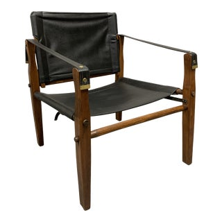 Vintage Safari Chair by Gold Medal Furniture For Sale
