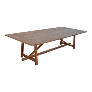 Aged Walnut Dining Table For Sale