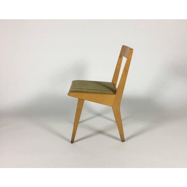Brown 1950s Mid-Century Modern Jens Risom Knoll Side Chair For Sale - Image 8 of 10