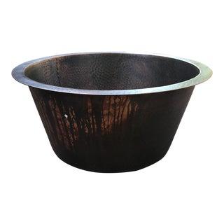 Hand Hammered Copper Bar Sink For Sale