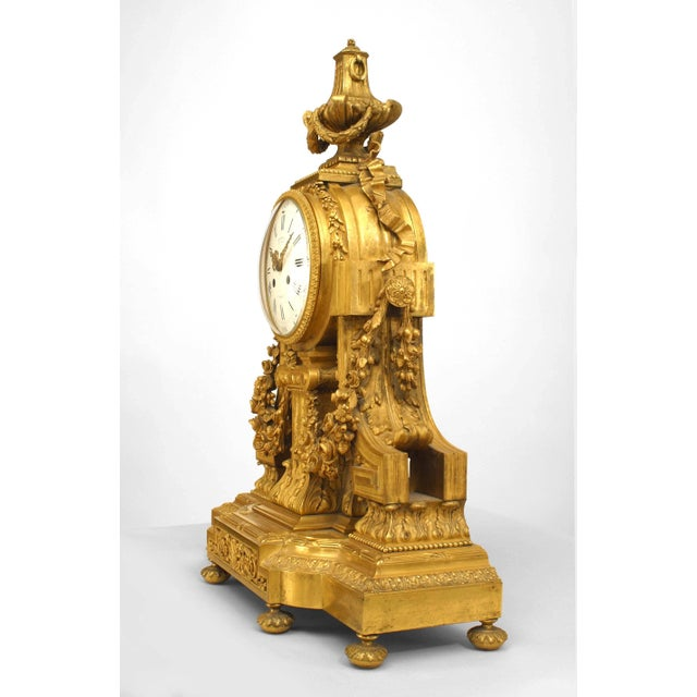 Bronze French Louis XVI Style '19th Century' Gilt Bronze Mantle Clock For Sale - Image 7 of 7