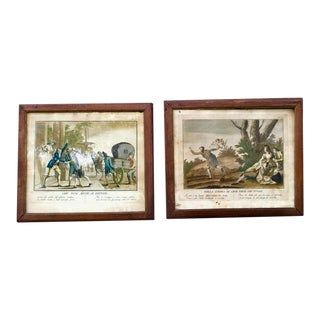 18th Century Italian Engravings, Framed - a Pair For Sale