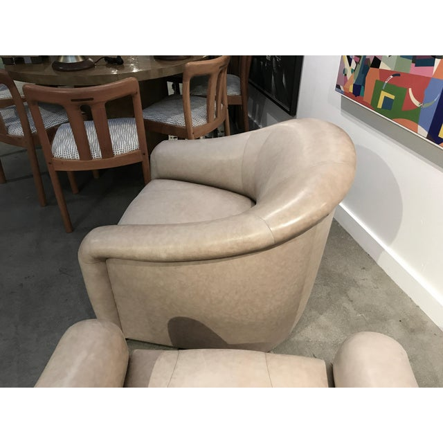 A. Rudin A. Rudin Leather Swivel Chairs - a Pair For Sale - Image 4 of 13