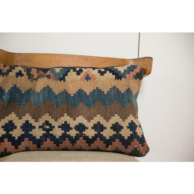 Boho Chic Antique Kilim Throw Pillow For Sale - Image 3 of 7