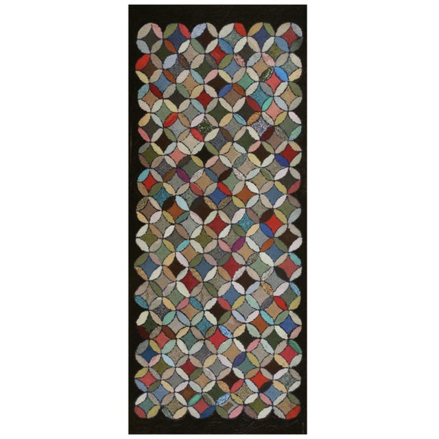 """Antique American Hooked Rug 3'7"""" X 8'9"""" For Sale - Image 12 of 12"""