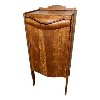Antique Oak Music Wine Bar Cabinet For Sale