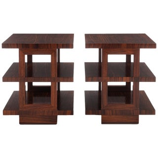 Edward Wormley Rosewood Tri-Tier Side Tables For Sale