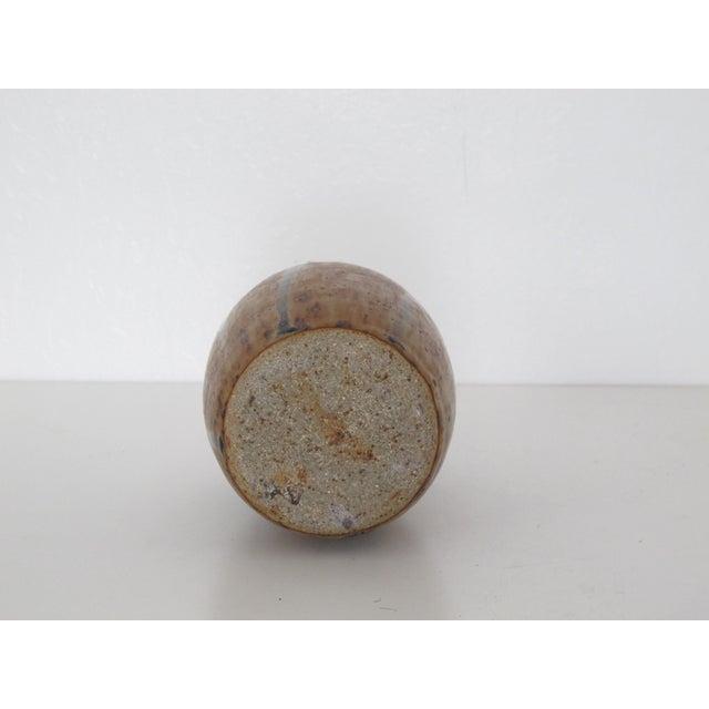 Amber Drip Glazed Ceramic Vase - Image 5 of 5