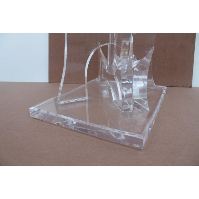 Abstract Lucite Sculpture by Van Tial - Image 10 of 11