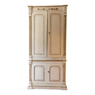 Italian Ivory Painted Cabinet For Sale