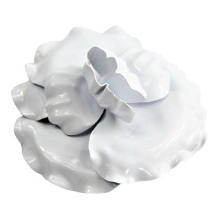 Rare Vintage Chanel White Plastic Camellia Flower Brooch Nwt For Sale