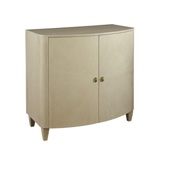 Transitional Mary McDonald for Chaddock Celia Demilune Chest Beige For Sale - Image 3 of 3