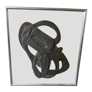 Frederick Weinberg Attribution Fiberglass Sculpture Mounted on Glass For Sale