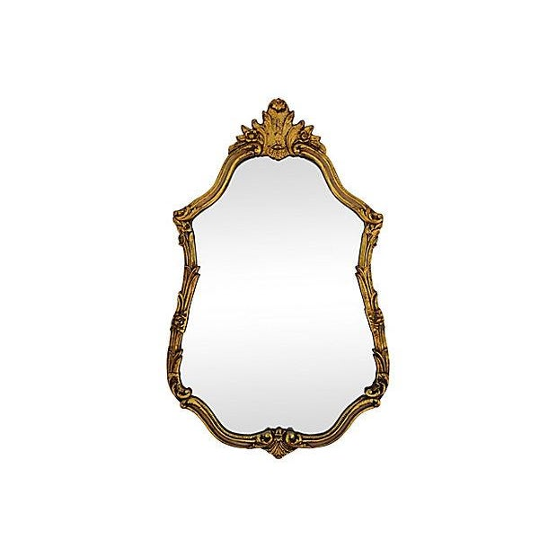Large Ornate 1940s French Gold Gilt Wall Mirror For Sale - Image 10 of 10