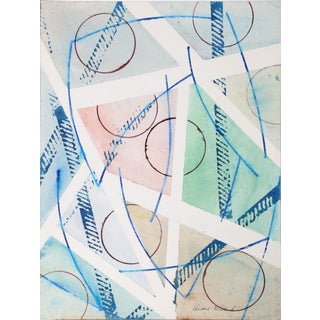 Harold Wallerstein - Geometric Abstract Watercolor on Paper For Sale