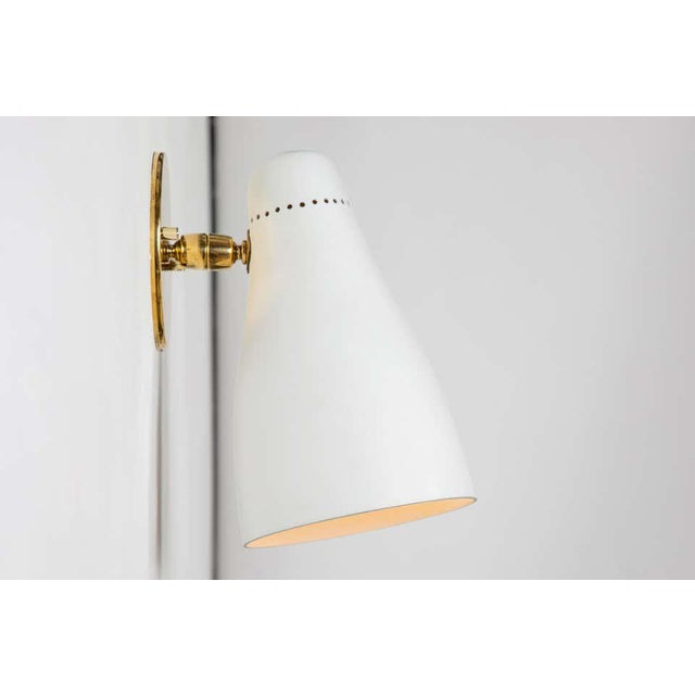 Metal 1950s Gino Sarfatti Perforated Cone Sconces for Arteluce - a Pair For Sale - Image 7 of 13