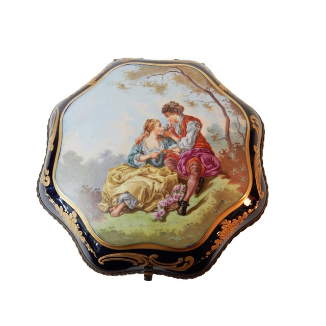 19th-C French Porcelain Dresser Box - Image 1 of 10
