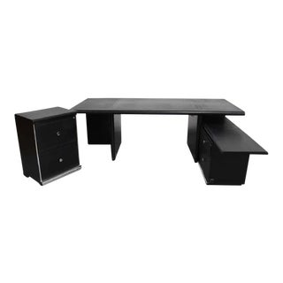 I4 Mariani for the Pace Collection Large Executive Desk With File Cabinets For Sale