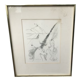 Vintage Pen and Ink Contemporary Drawing For Sale