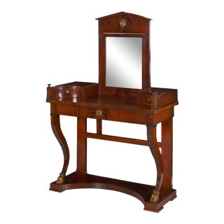 Baltic Empire Mahogany Dressing Table Console For Sale