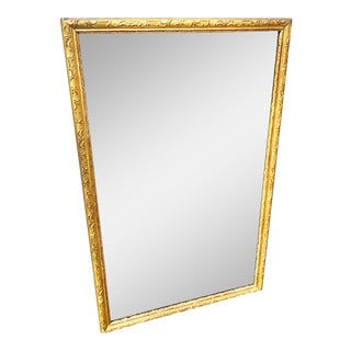 Late 19th Century Italian Giltwood Mirror Original Glass For Sale