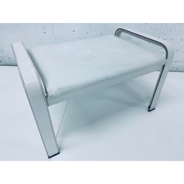 "Matteo Grassi Leather ""Sistina"" Lounge Chair and Foot Stool, Vintage 1980s For Sale - Image 11 of 13"