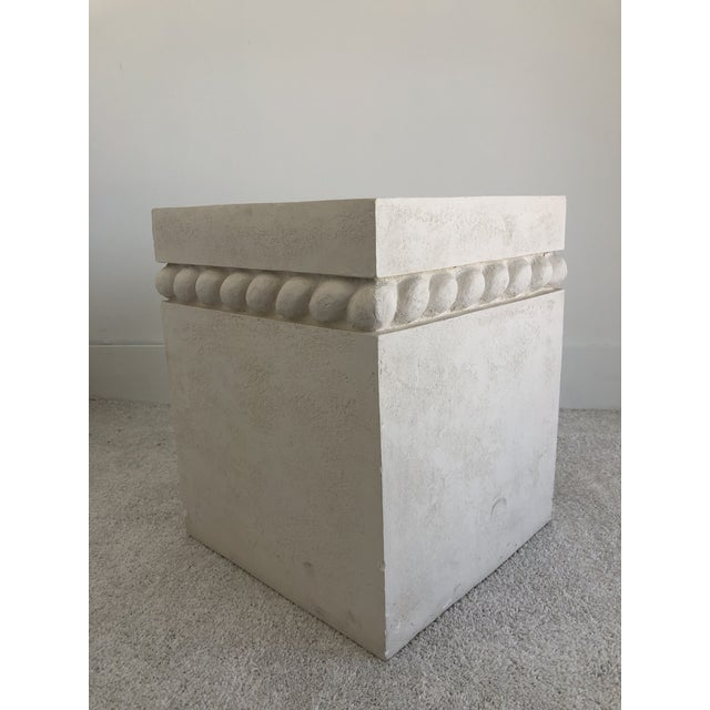 John Dickinson Vintage Postmodern Decorative Plaster Pedestal For Sale - Image 4 of 10