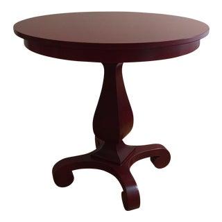 Crate & Barrel Small Pedestal Table