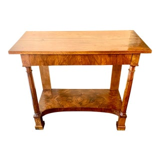 19th Century French Empire Console Table For Sale