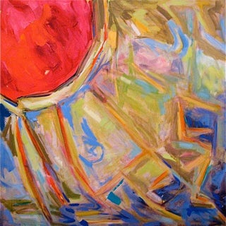 """Yurt"" by Trixie Pitts Abstract Oil Painting For Sale"