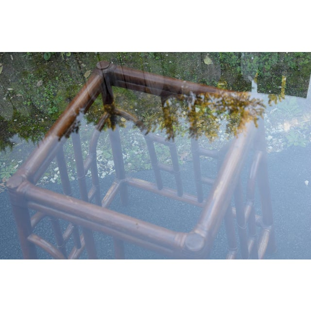 20th Century Chinoiserie Bamboo Base Dining Table For Sale In Washington DC - Image 6 of 10