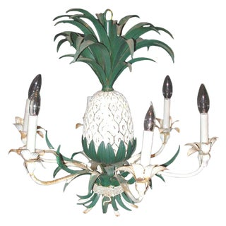 Pineapple Chandelier Hollywood Regency Style For Sale