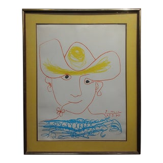 """1970s Lithograph on Paper Drawing """"Young Spanish Peasant"""" by Pablo Picasso For Sale"""