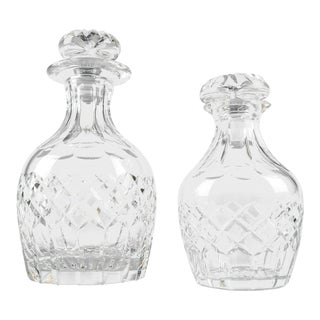 Cartier Cut Crystal Barware Decanters - a Pair For Sale