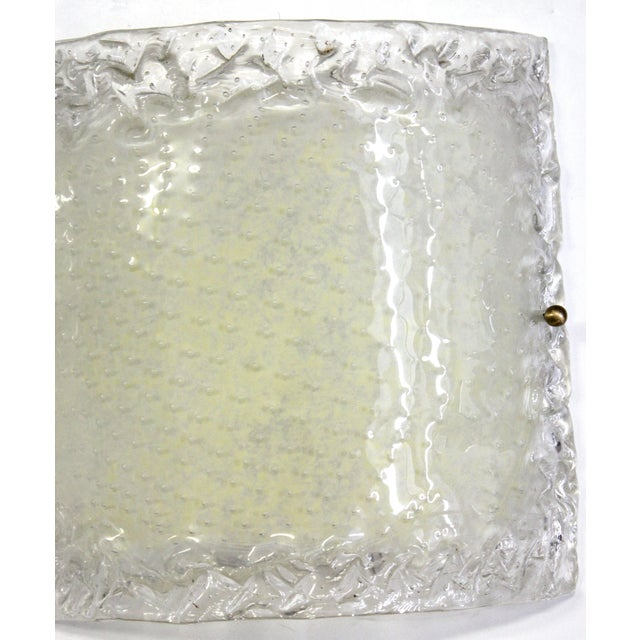 Metal Italian Modern Glass Sconces - a Pair For Sale - Image 7 of 13