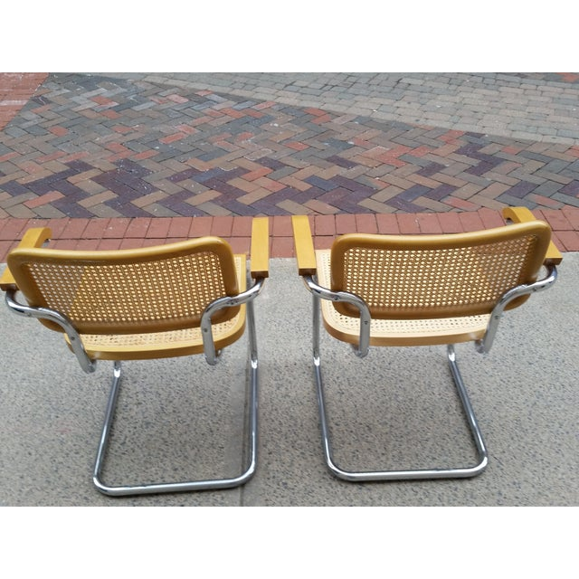 Marcel Breuer Italian Chairs - A Pair - Image 5 of 9