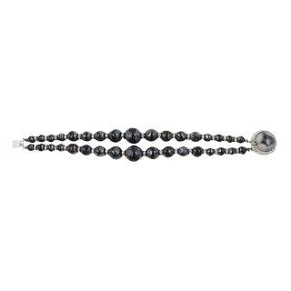 1950s Nettie Rosenstein Iridescent Beaded Bracelet For Sale