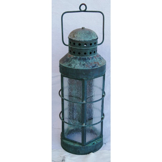 Nautical Copper Lantern Wall Sconces- A Pair - Image 8 of 12