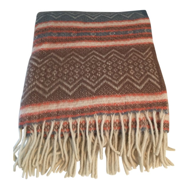 Vintage Southwestern Faribo Mesa Wool Blanket/Throw For Sale