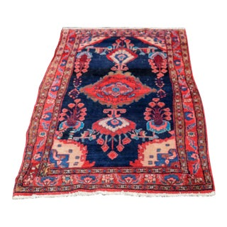 Vintage Mid-Century Hand-Knotted Persian Rug - 4′8″ × 9′11″ For Sale