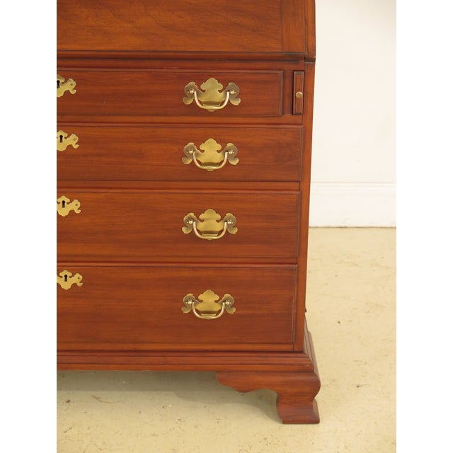 C.1975 Details: #24 Finish Cherry Bracket Feet Dovetailed Drawer Construction High Quality Construction Large Impressive...
