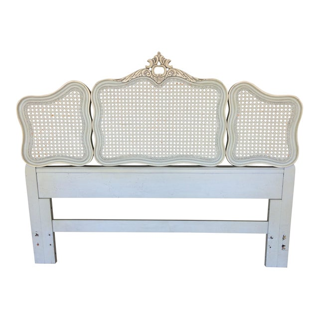 Hickory White French Provincial Queen/ Double Headboard - Image 1 of 8