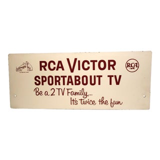 RCA TV Advertising Sign Circa Mid-20th C. For Sale