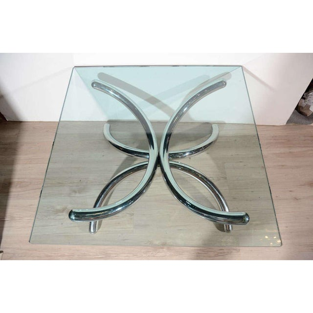 Italian Mid-Century Modern Coffee Table with Sculptural Base Design For Sale - Image 9 of 13