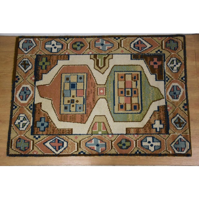 "Ege Axminster Abstract Danish Rug 79"" X 54"" For Sale - Image 12 of 12"