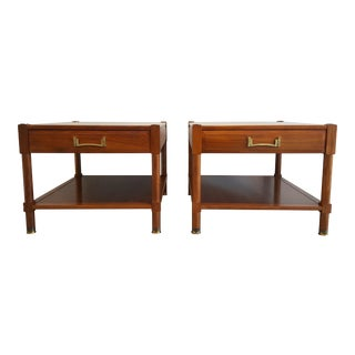 Vintage Heritage Walnut End Tables - A Pair